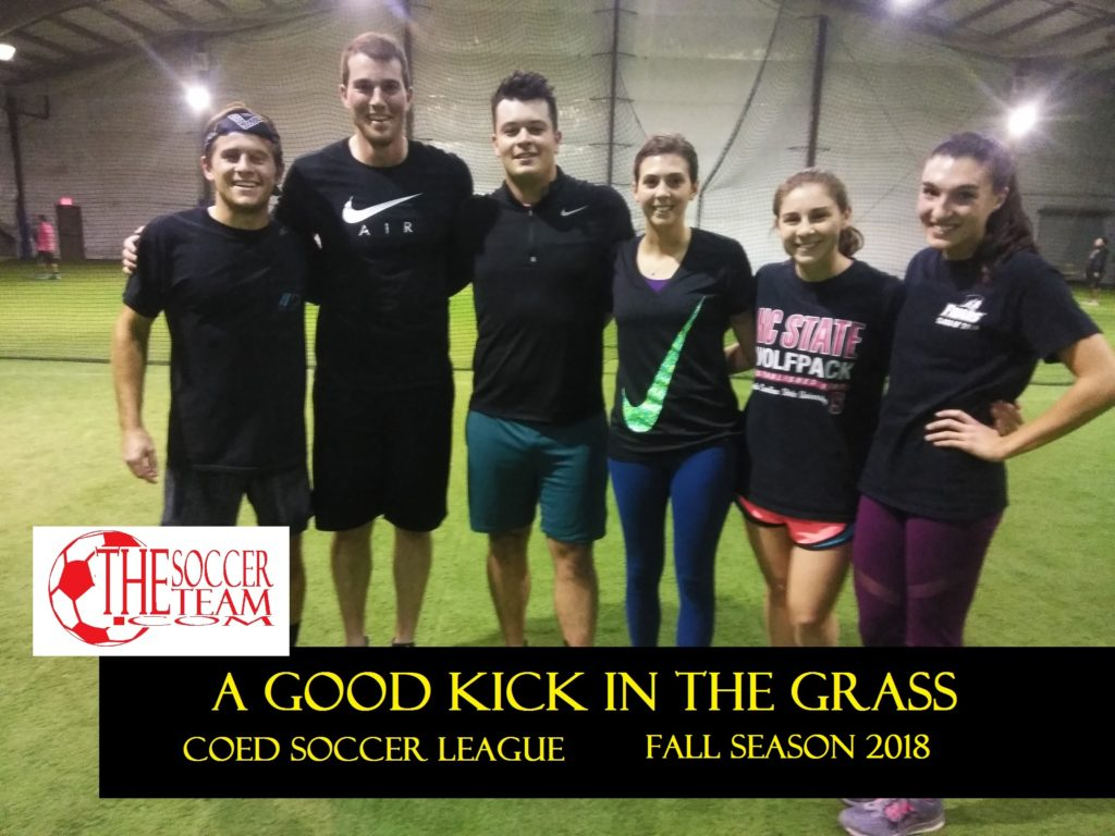 a good kick in the grass