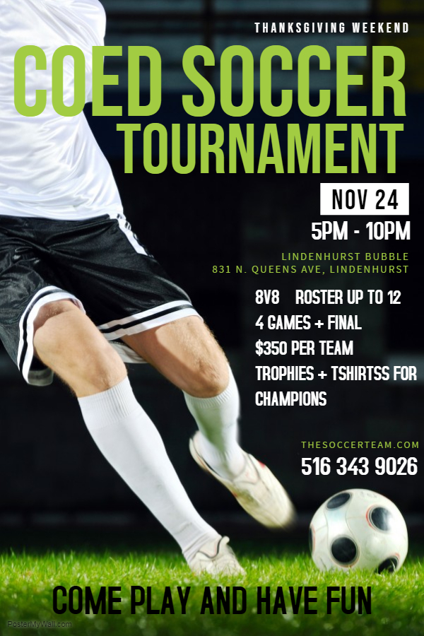 Copy of Soccer Game Flyer Template - Made with PosterMyWall