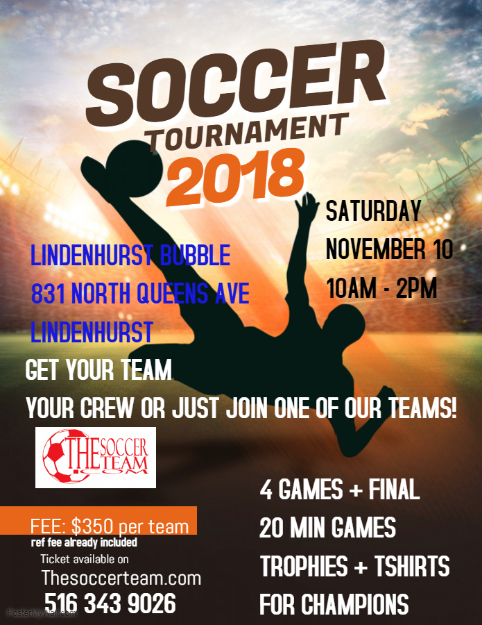 Copy of Soccer Tournament Event Flyer - Made with PosterMyWall