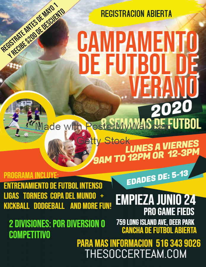 Copy of Copy of Soccer Camp Flyer Poster Template - Made with PosterMyWall