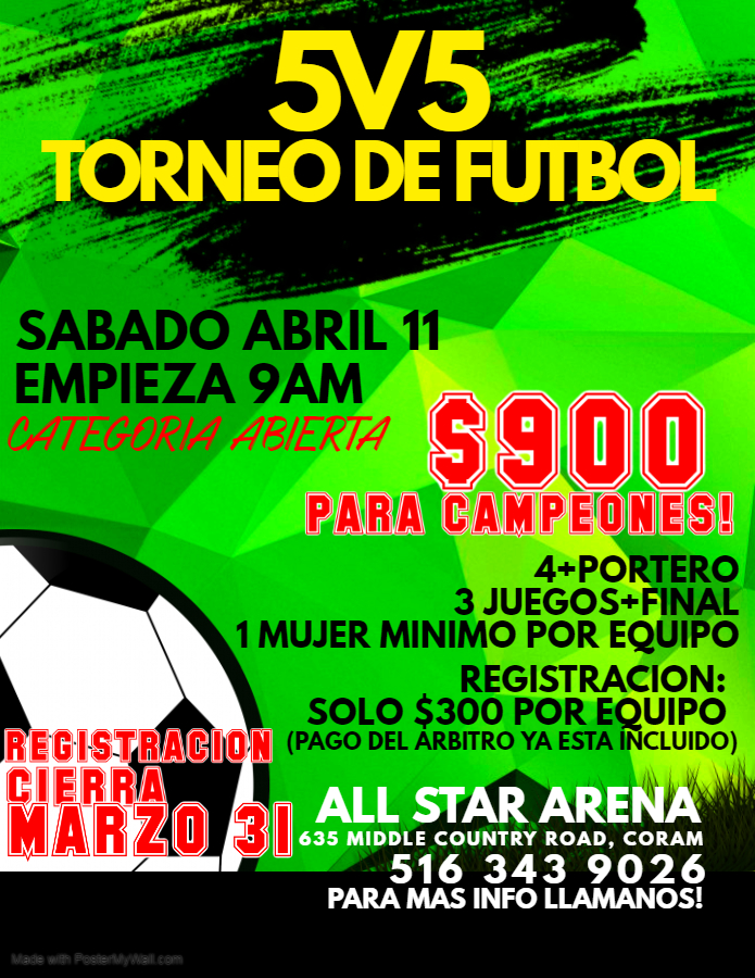 Copy of Copy of Soccer Match Flyer - Made with PosterMyWall