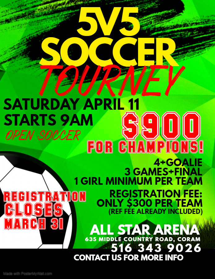 Copy of Soccer Match Flyer - Made with PosterMyWall