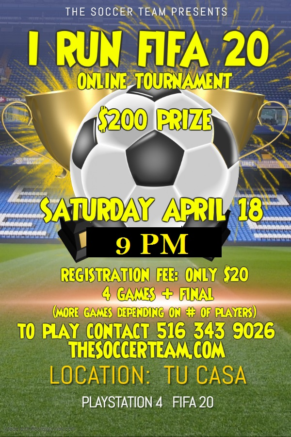Copy of soccer football game tournament cup flyer template - Made with PosterMyWall