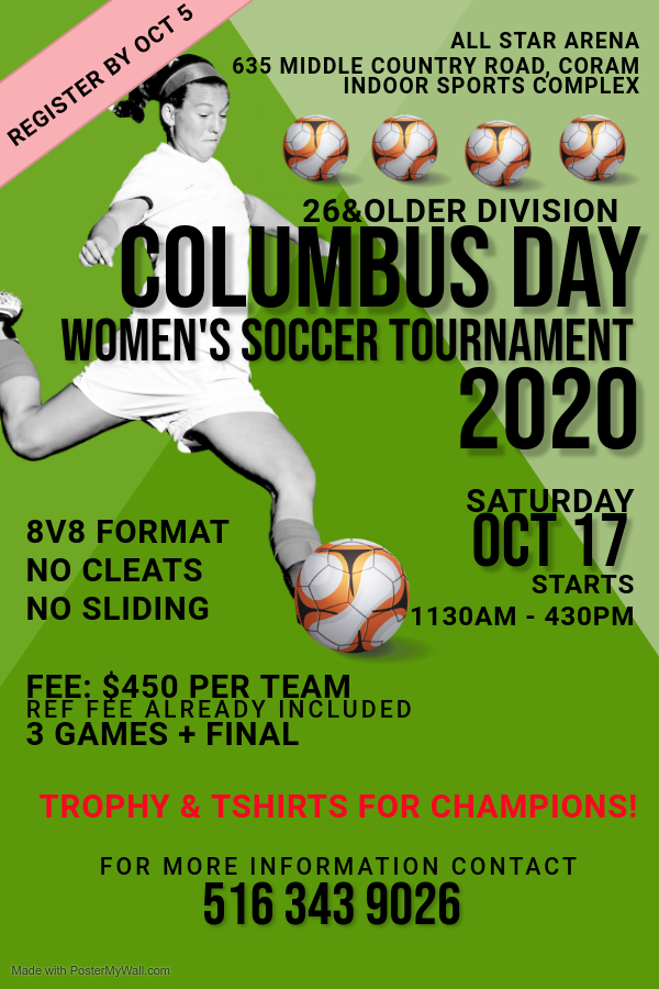 Copy of Green Womens Football Flyer Template - Made with PosterMyWall (1)