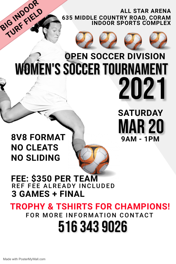 Copy of Green Womens Football Flyer Template - Made with PosterMyWall