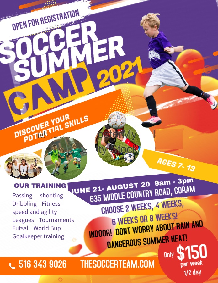 Copy of Soccer Camp Flyer Poster - Made with PosterMyWall